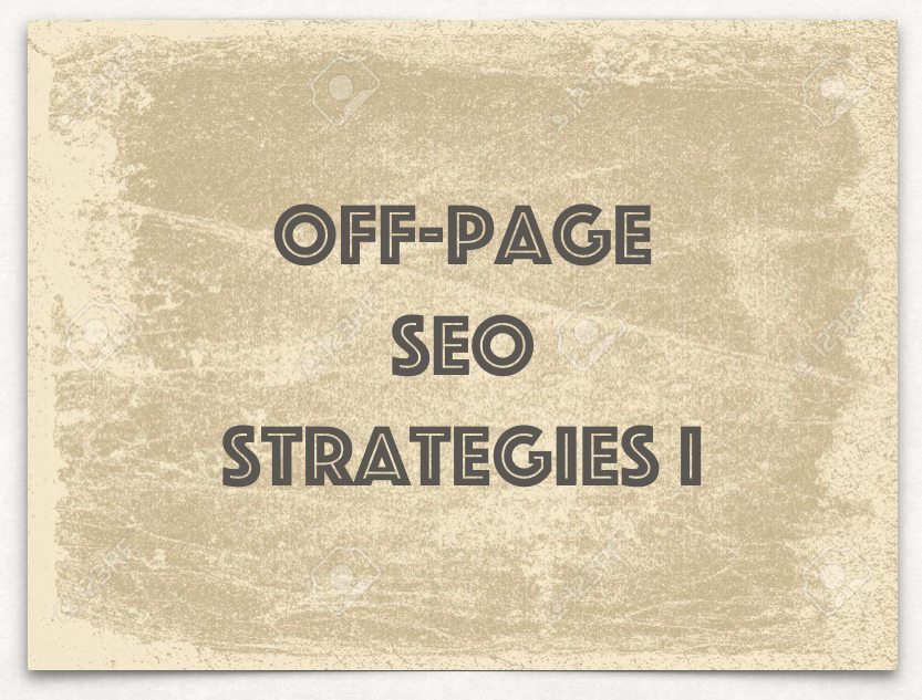 off-page SEO strategies I