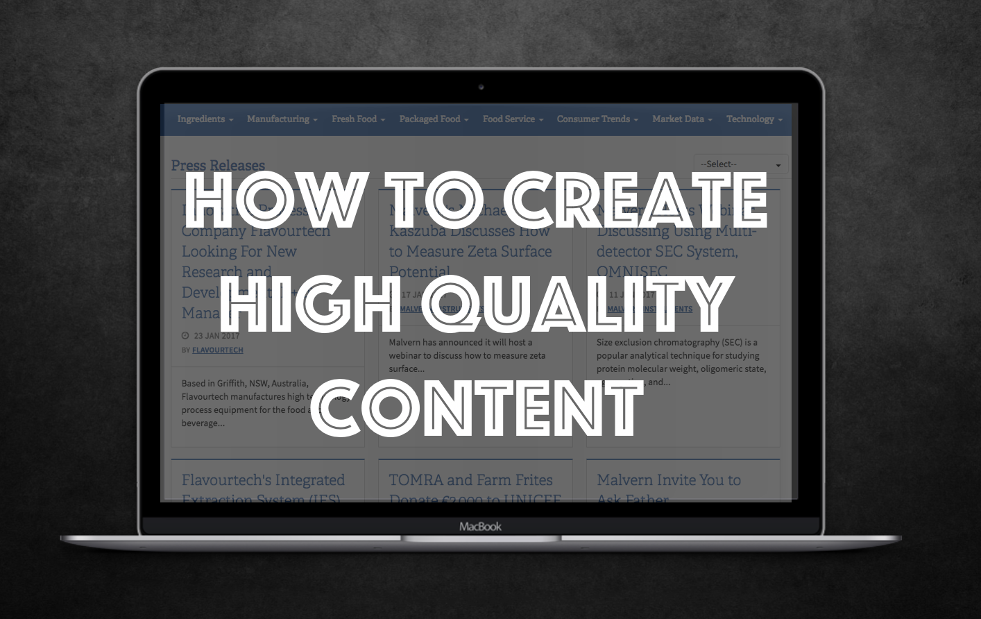 How To Create High Quality Content For Content Marketing