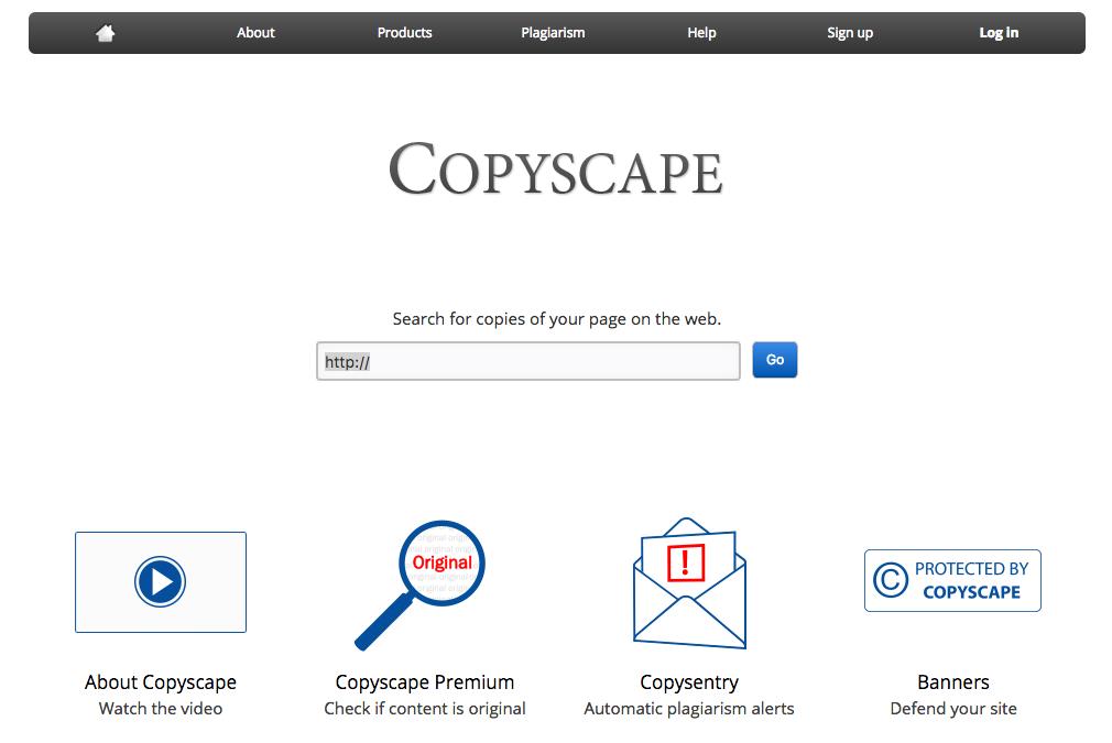 copyscape duplicate content marketing