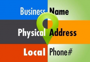 Business name, address and phone number