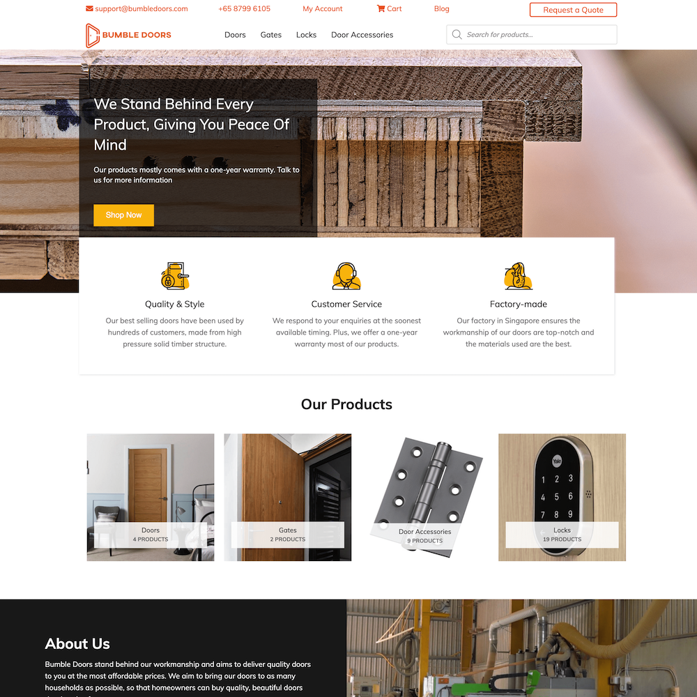 Bumbledoors Homepage optimised