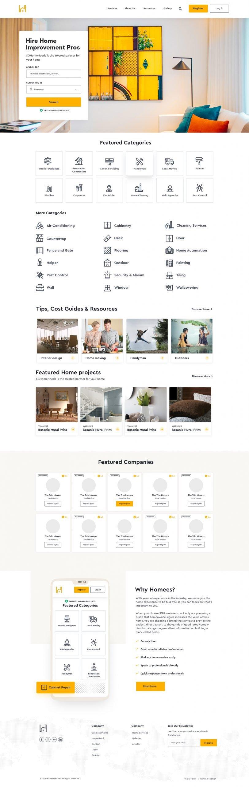 SGHomeNeeds Homepage