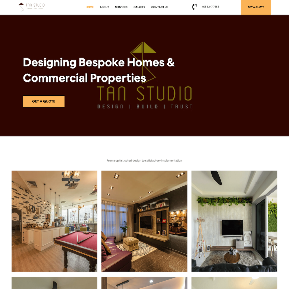 Tan Studio Homepage optimised