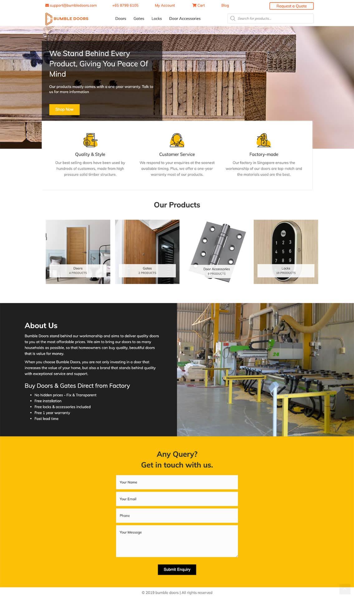 Bumbledoors Homepage