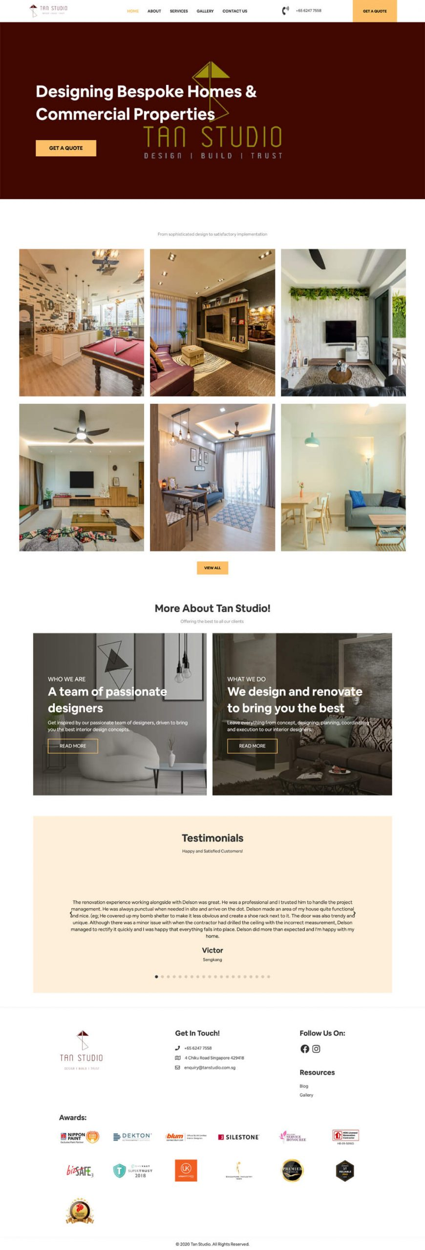 Tan Studio Homepage
