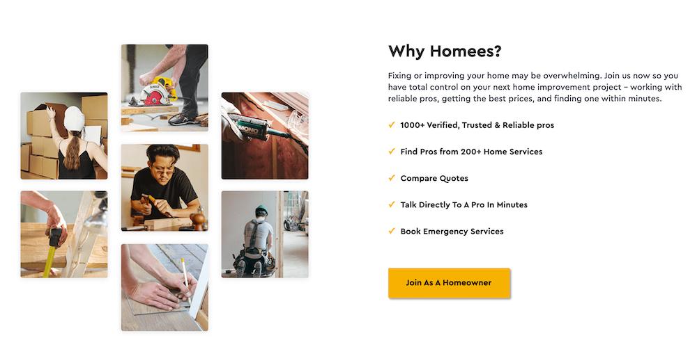 homees.co homepage