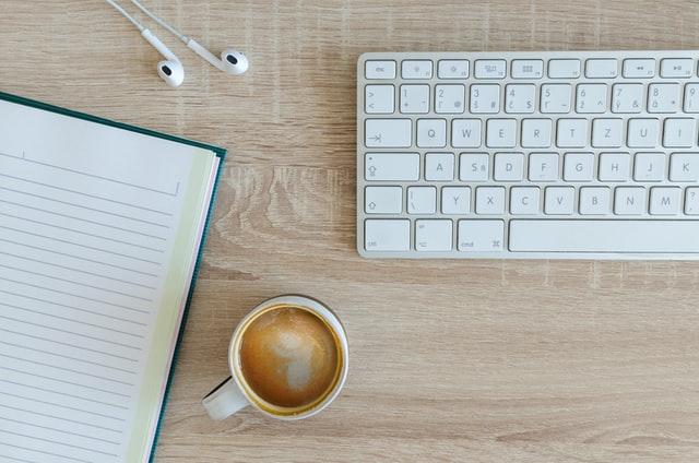 Computer coffee digital marketing