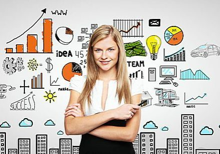businesswoman and plan business strategy